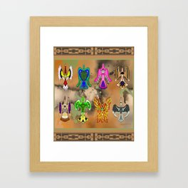 "Native American Waterbirds ""Of All Color"" Framed Art Print"