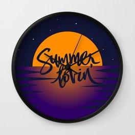Orange Sunset (Summer Lovin') Wall Clock