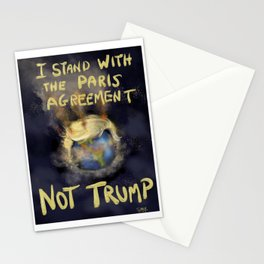 I Stand With The Paris Agreement Stationery Cards