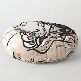 Wolf Ukiyo-e Floor Pillow