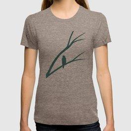 Bird Silhouette Green Pattern T-shirt