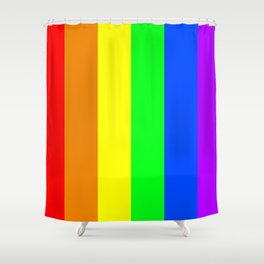 Rainbow flag - Vertical Stripes version Shower Curtain