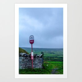 Irish Bus Stop - Ireland Art Print