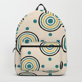 Circles and Dots Retro Pattern Backpack