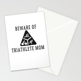 Funny Triathlete Mom Quote Stationery Cards