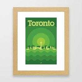 Toronto Minimalism Poster - Spring Green Framed Art Print