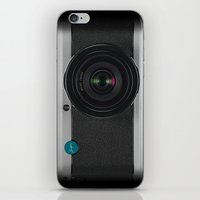 vintage camera iPhone & iPod Skins featuring Vintage Camera by Bright Enough💡
