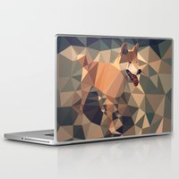 shiba Laptop & iPad Skins featuring Triangular shiba inu by Matěj Kašpar Jirásek