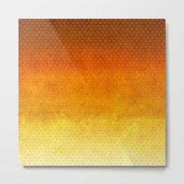 """Sabana Sunset Degraded Polka Dots"" Metal Print"