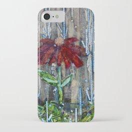 The movement of rain iPhone Case