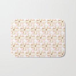 Rose Gold Watercolor Tile Bath Mat