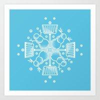 Shovelflake 2: Snowmen Art Print