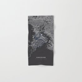 Vancouver city map Hand & Bath Towel