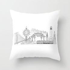 San Francisco by the Downtown Doodler Throw Pillow