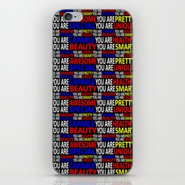 Motivational Typographic Colorful Print Pattern iPhone Skin