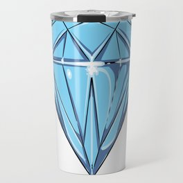big blue Diamond Travel Mug