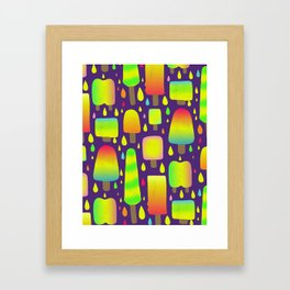 Dayglo Pops Framed Art Print