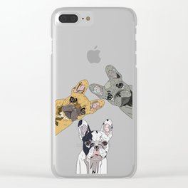 Triple Frenchies Clear iPhone Case