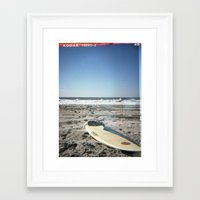 surfboard Framed Art Prints featuring Surfboard by NoGoPhoto