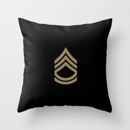 Sergeant First Class (Brown) Throw Pillow