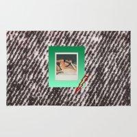 punk Area & Throw Rugs featuring PUNK by MODERN UNDERGROUND