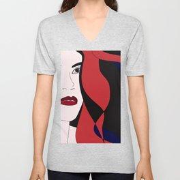 Gala #red #hair #portrait #wild #halloween #artwork #buyart Unisex V-Neck