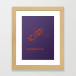 Vector Soyuz! Framed Art Print