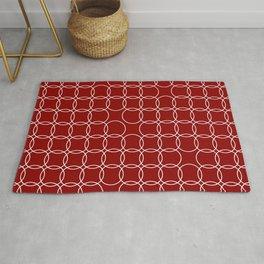 dark red minimal circles Rug