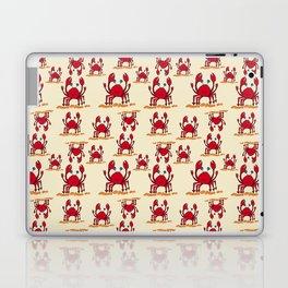 Crabs in yellow sand by Jana Sigüenza Laptop & iPad Skin