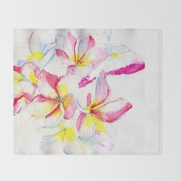Frangipani Throw Blanket