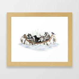Critter Canoe Framed Art Print