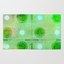 Green Peace Discs of Light Rug