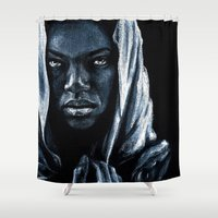 african Shower Curtains featuring African by elenachukhriy