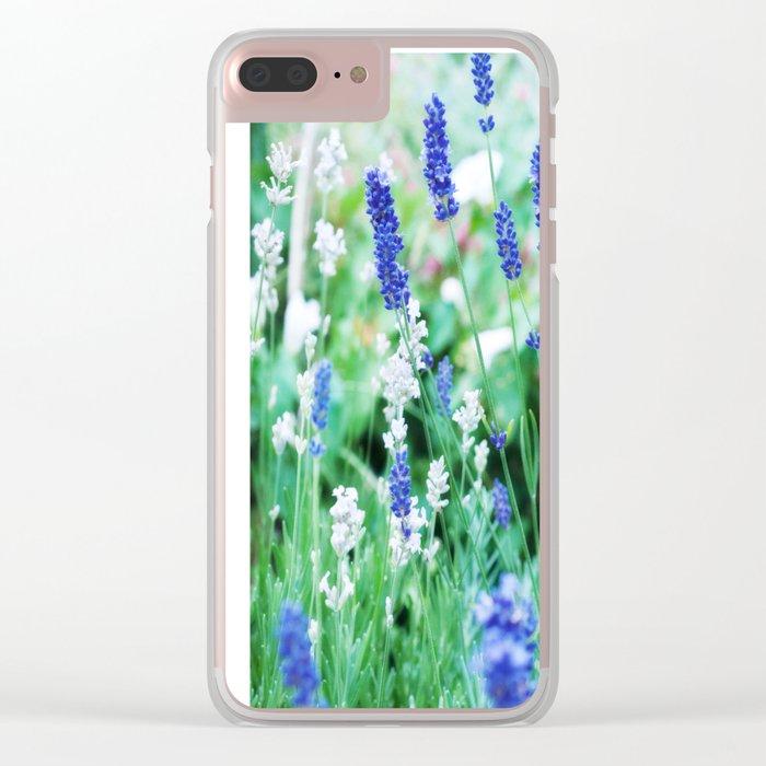 White & Blue Lavender Dream #1 #art #society6 Clear iPhone Case