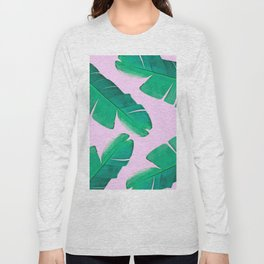 Banana Palm, muck and teal Long Sleeve T-shirt