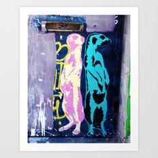 Meerkat Graffiti Art Print