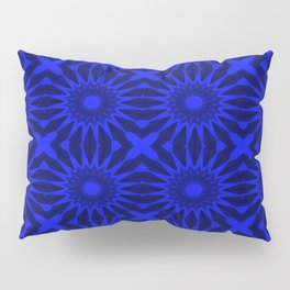 Blue Pinwheel Flowers Floral Pattern Pillow Sham