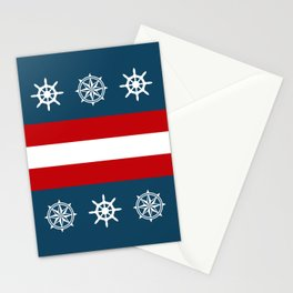 Compass and sailing wheel Stationery Cards