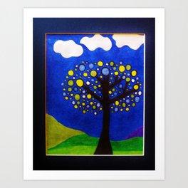 Tree at Dusk by Anthony Davais Art Print
