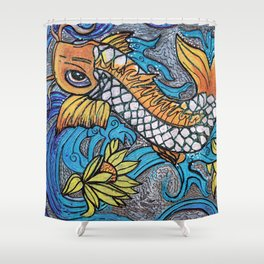 Glitter Fish Shower Curtain