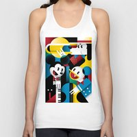band Tank Tops featuring Mickey's Band by Szoki