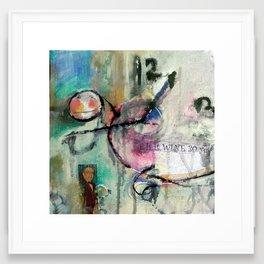 is it wine-30 yet? Framed Art Print
