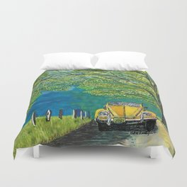 Tennessee Cabriolet Spring Drive Duvet Cover