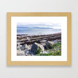Life at the seashore Framed Art Print
