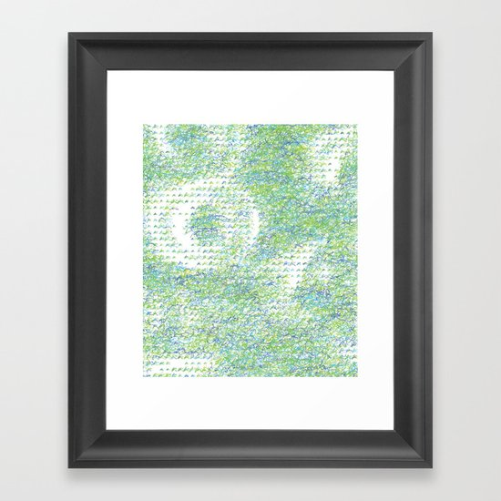 Peacock Feathers Doodle Framed Art Print