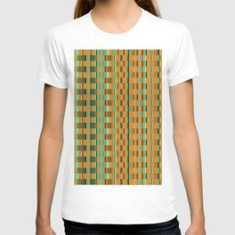 Rectangle checkered Design green T-shirt