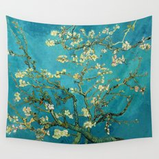 Vincent Van Gogh Blossoming Almond Tree Wall Tapestry