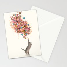 catching butterflies Stationery Cards