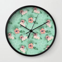 Aloha Friday Floral Wall Clock