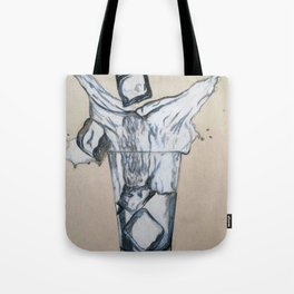 Ice cube's in a glass of water Tote Bag